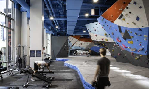 fitness design, climbing wall, indoor fitness design